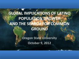 Global Implications of Latino Population Growth