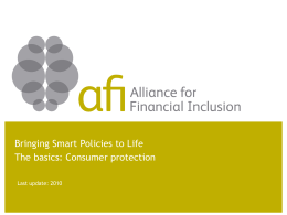 Microfinance Client Protection Principles