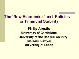 Presentation - The Cambridge Trust for New Thinking in Economics