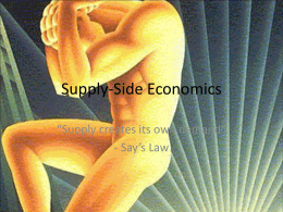 Supply-Side Economics Notes