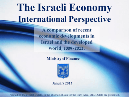 The Israeli Economy: International Perspective