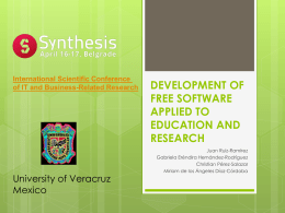 development of free software applied to education and research