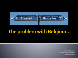 The problem with Belgium…