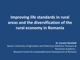 Improving life standards in rural areas and the