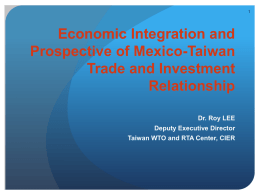 Economic Integration and Prospective of Mexico