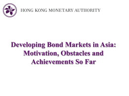 Hong Kong Debt Market Development