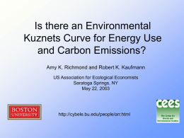 Is there an Environmental Kuznets Curve for Energy Use and