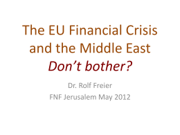 The EU Financial Crisis and the Middle East