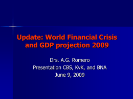 Update: World Financial Crisis