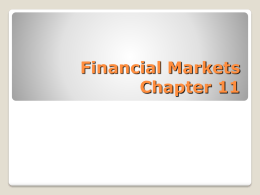 Financial Markets - North Clackamas School District