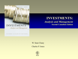Investments: Analysis and Management, Second Canadian Edition