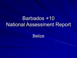 National Assessment Report