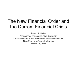 The New Financial Order and the Current Financial Crisis