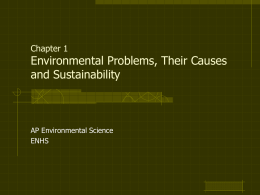Chapter 1 Environmental Problems, Their Causes and
