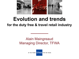 Evolution and trends for the duty free & travel retail