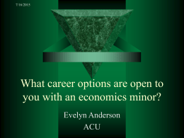 What career options are open to you with an economics minor?