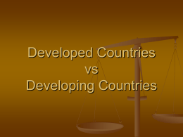 Developing Countries vs Developed Countries