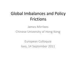 Global Imbalances and Policy Frictions