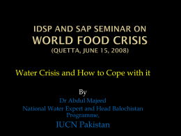 World Water day 2007 - IDSP Pakistan's Blog