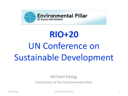 RIO+20 UN Conference on Sustainable Development