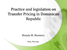 Practice and legislation of TP