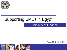 Supporting SMEs in Egypt