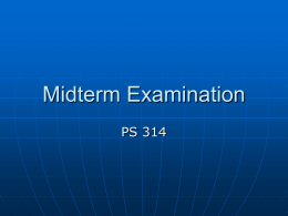 Midterm Examination - Washington State University