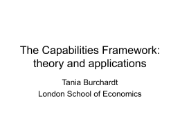 The Capabilities Framework: an overview