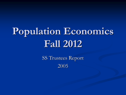 Population Economics Fall 2005