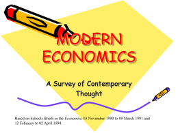 MODERN ECONOMICS - University of Hawaii