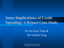 Some Implications of Credit Spending