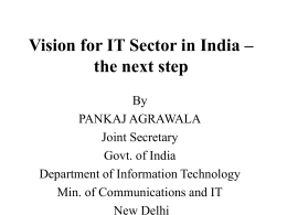 Vision for IT Sector in India and steps for improving