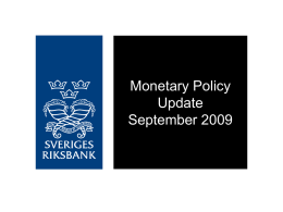 Monetary Policy Update September 2009