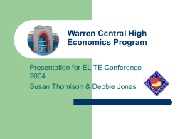 Warren Central High Model Economics Program