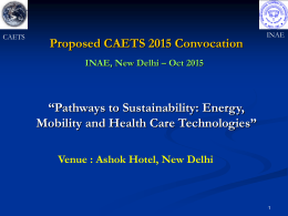 Proposed CAETS 2015 Convocation