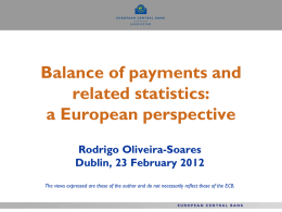 Balance of Payments Statistics: A European Perspective