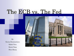 The Fed vs. The ECB - Econometrics at Illinois