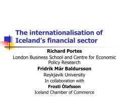 The internationalisation of Iceland's financial sector