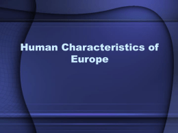 Characteristics of Europe - St. Joseph School District