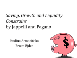 Saving, Growth and Liquidity Constrains by Jappelli and Pagano