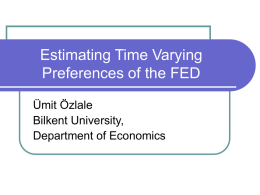 Estimating Time Varying Preferences of the FED