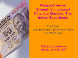 Perspectives on Strengthening Local Markets: The Indian