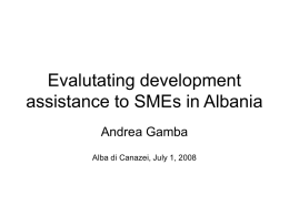 Evalutating development assistance to SMEs in Albania