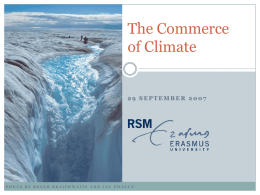 The Commerce of Climate - Erasmus Research Institute of