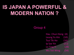 Is Japan a powerful & modern nation