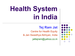 Health Systems in India