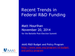 Research and Development in the FY 2010 Federal Budget