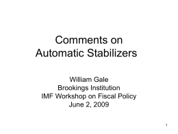 Comments on Automatic Stabilizers