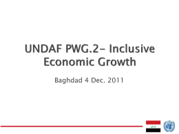Inclusive Economic Growth PWG-2
