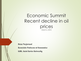 Economic SummitRecent decline in oil pricesMarch 6, 2015